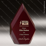 Corporate Rosewood Piano Finished Diamond Pillar Trophy Award Wood Awards