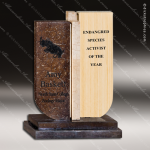 Wood Accented Rectangle Tranquility Trophy Award Wood Awards