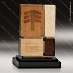 Wood Accented Rectangle Unity Trophy Award Wood Awards