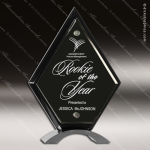 Acrylic Black Accented Piano Finish Diamond Standup Trophy Award Wood Awards