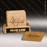 Laser Engraved Wood Coaster Bamboo Set Square Etched Gift Wood Square Edge Coaster Sets