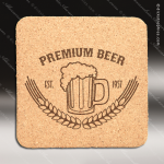 Laser Engraved Wood Coaster Cork Square Etched Gift Wood Square Edge Coasters