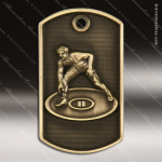 Medallion Dog Tag 3-D Series Wrestling Medal Wrestling Medals