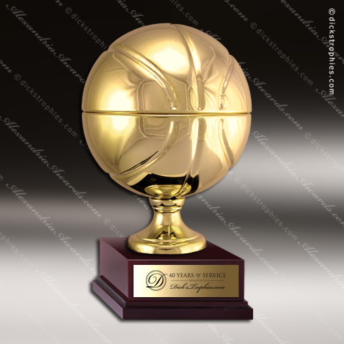 Champion Metal Large Gold Brass Fantasy Basketball Trophy