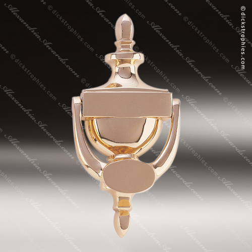 """4.5/""""x6/"""" Recognition Award Plaque Trophy with 2 Tone BRASS Engraved Plate"""