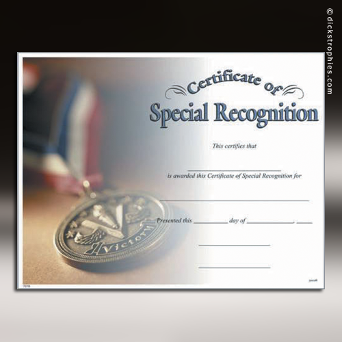 certificate of special recognition image collections