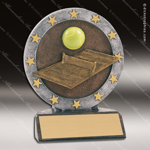 Emblems-Gifts Curve Bronze Female Footballer Trophy With Free Engraving