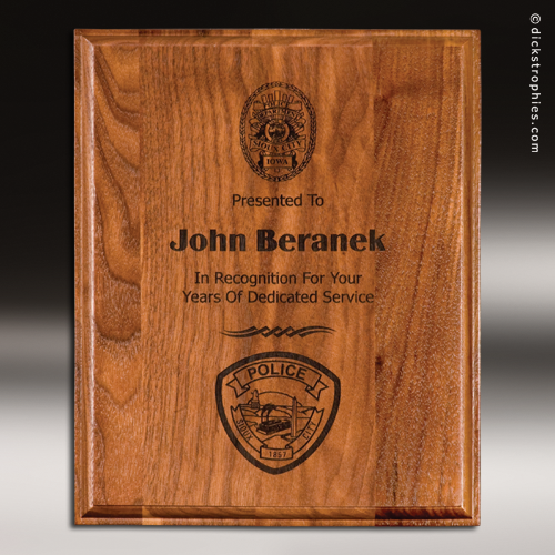 Well-known Engraved Walnut Plaque Laser Etched Wall Placard Award Wood Awards FI06